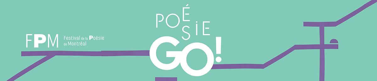Bande de logo de PoésieGo par le Festival de poésie de Montréal