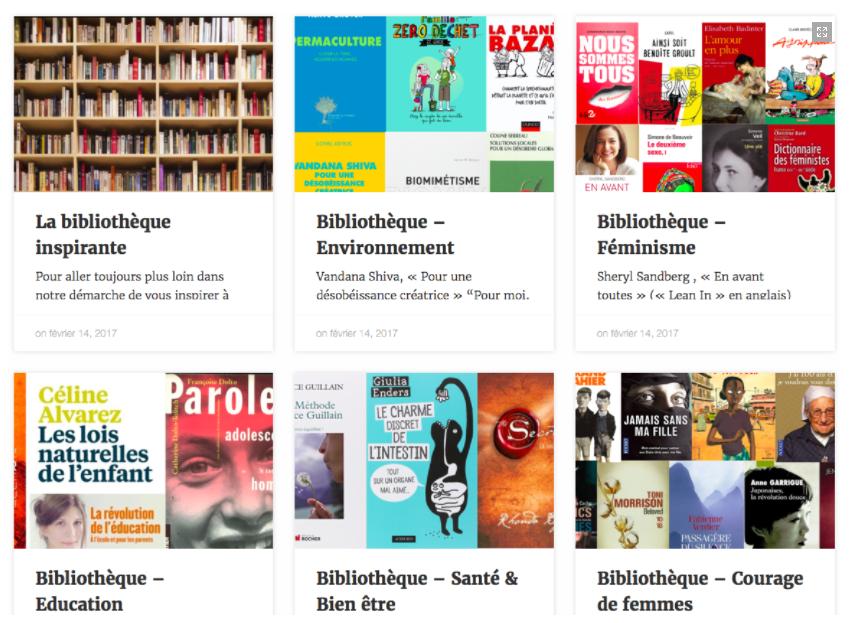 Bibliothèque inspirante Blog laruche8mars