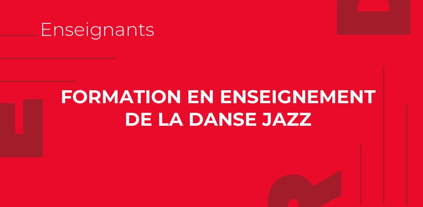 Formation en enseignement de la danse jazz
