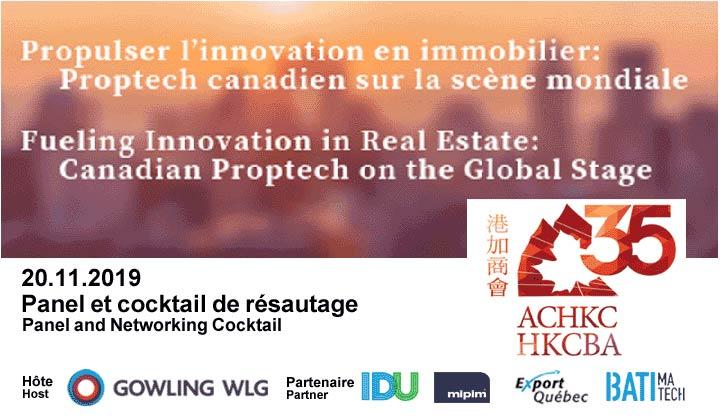 Événement partenaire - Propulser l'innovation en immobilier : Proptech canadien sur la scène mondiale