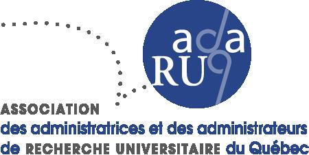 Logo Association des administratrices et administrateurs de recherche universitaire du Québec