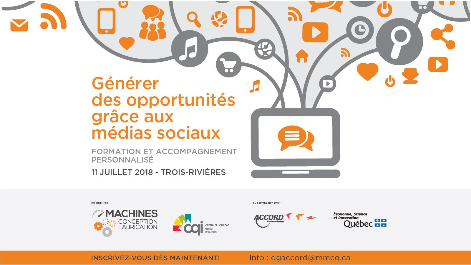 Formation sur les médias sociaux et accompagnement personnalisé