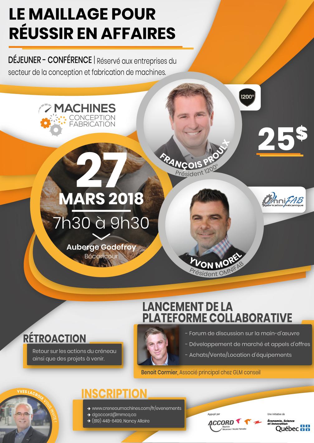 27 mars 2018:  Déjeuner- Conférence- Maillage