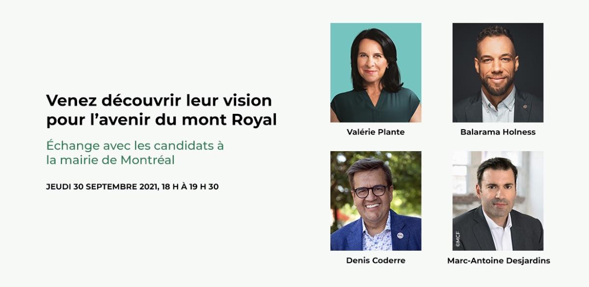 Échange avec les candidats à la mairie de Montréal 2021