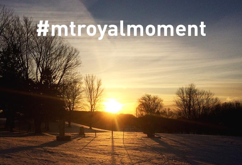 Partage ton moment sur le mont Royal avec #mtroyalmoment