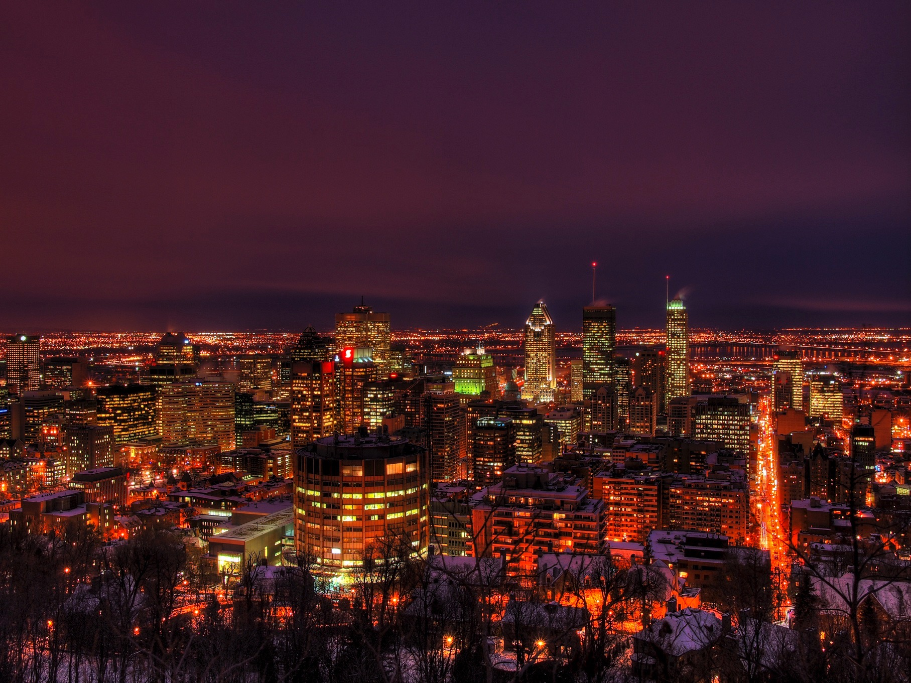 Sortie en ski de fond à la lueur de la ville