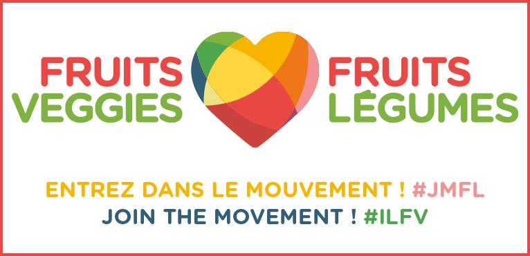 Entrez dans le mouvement j'aime les fruits et légumes !