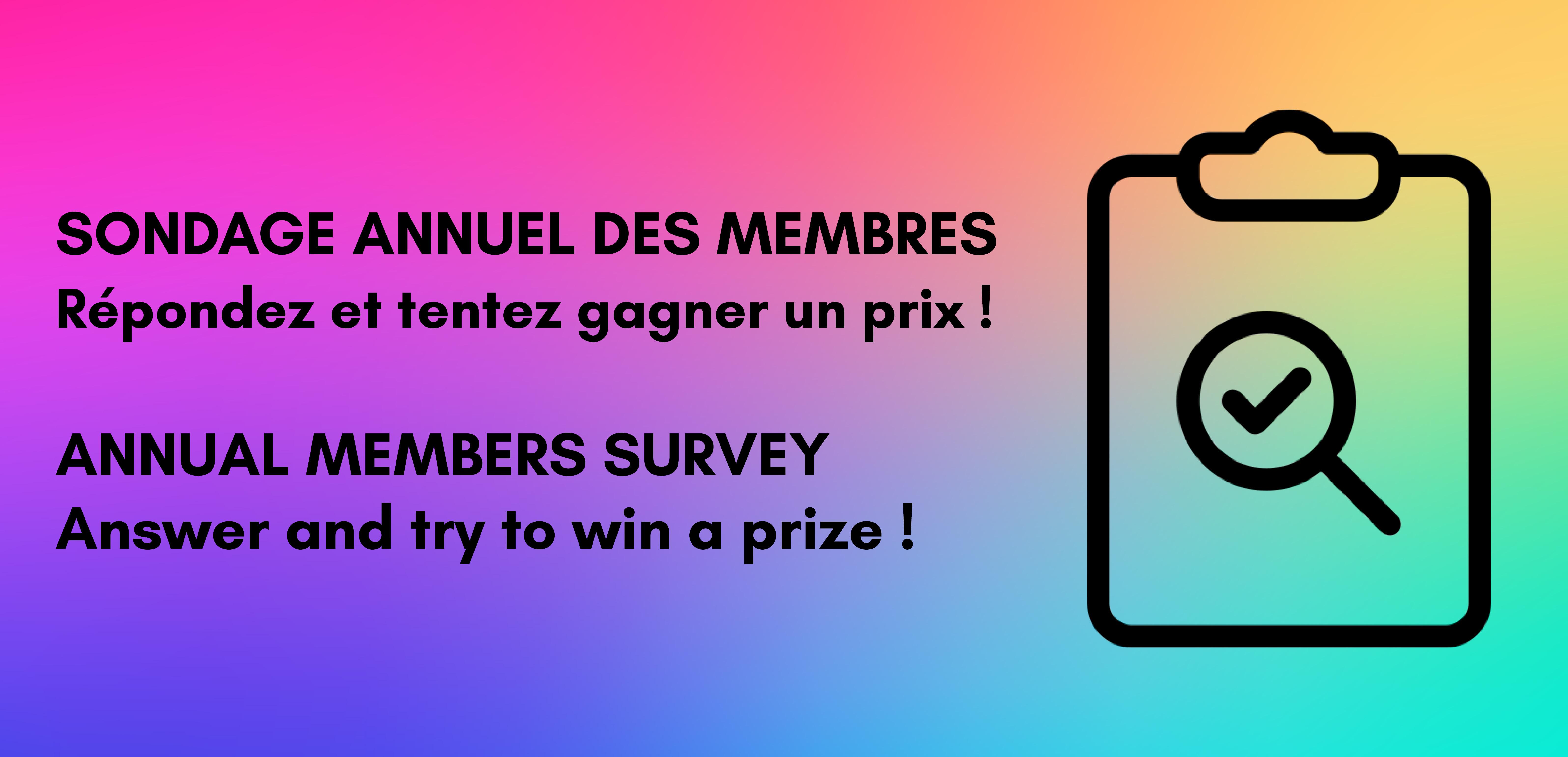 Votre avis compte pour nous ! Répondez au sondage de satisfaction de l'AQDFL !
