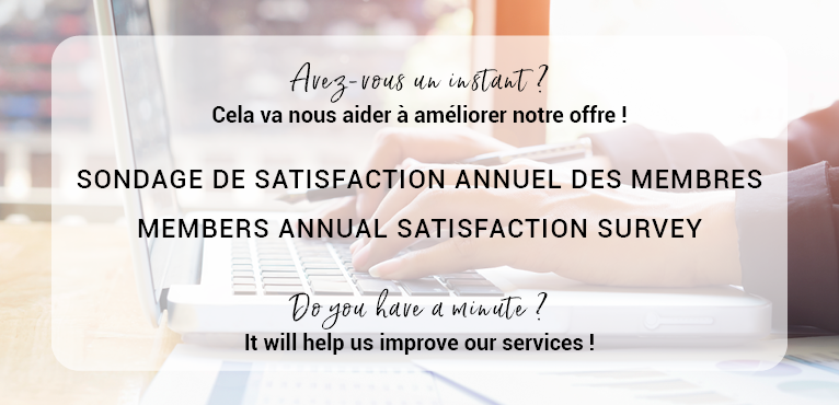 Sondage annuel de satisfaction