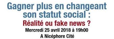 Conférence Gagner plus en changeant son statut social : réalité ou fake news ?