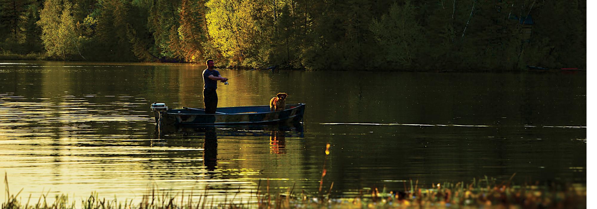 021 photo carrousel canot homme et chien