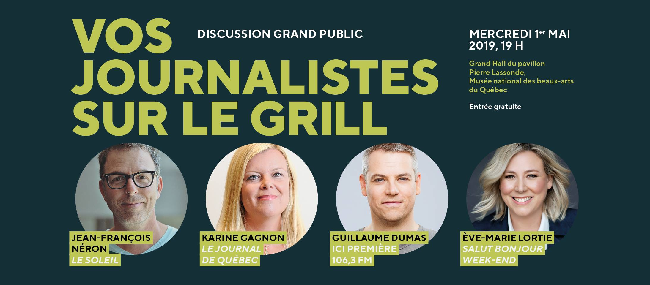 Discussion - Vos journalistes sur le grill