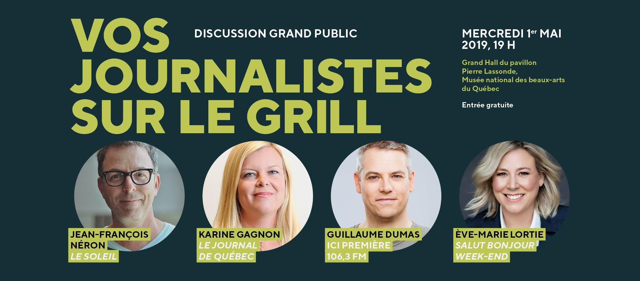 Discussion - Vos journalistes sur le grill