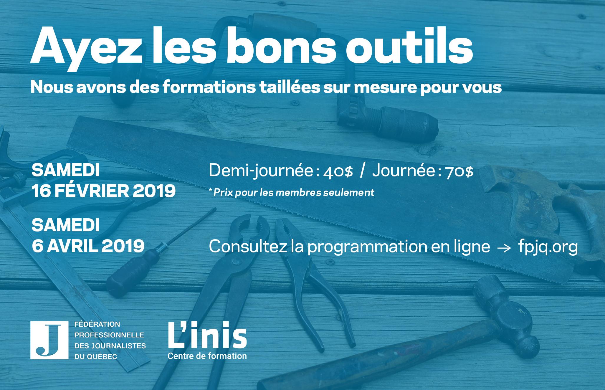 Journées de formations 2019 - Samedis d'apprendre