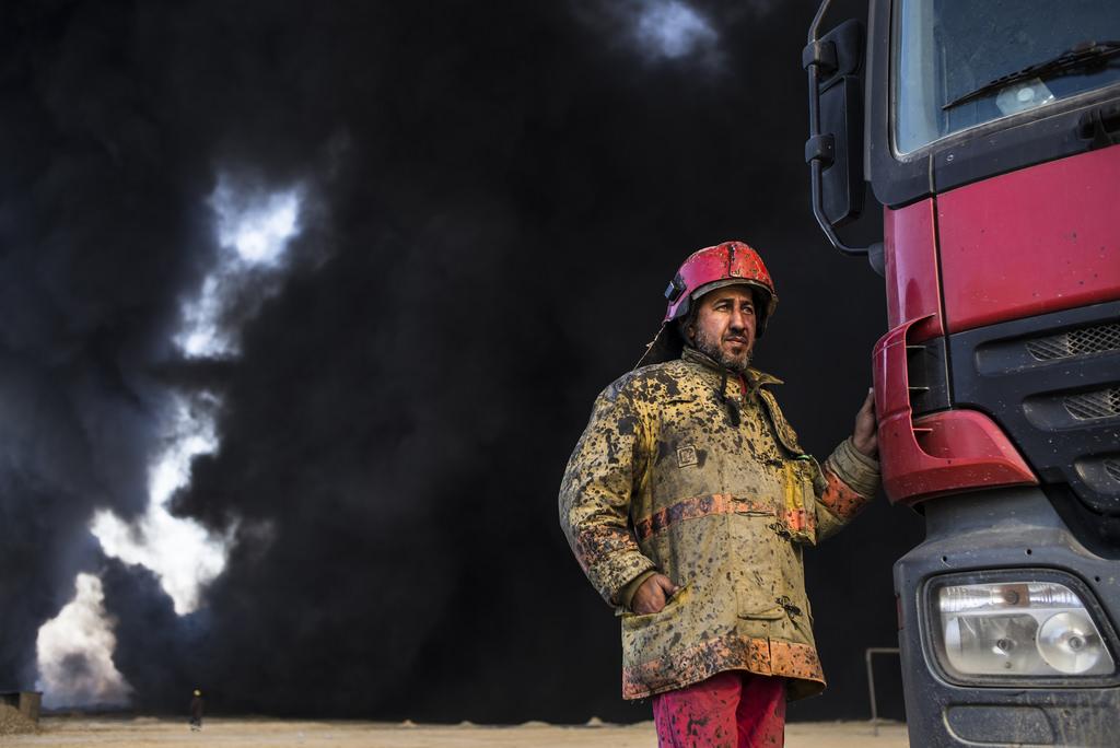 Le pompier de Qayyarah