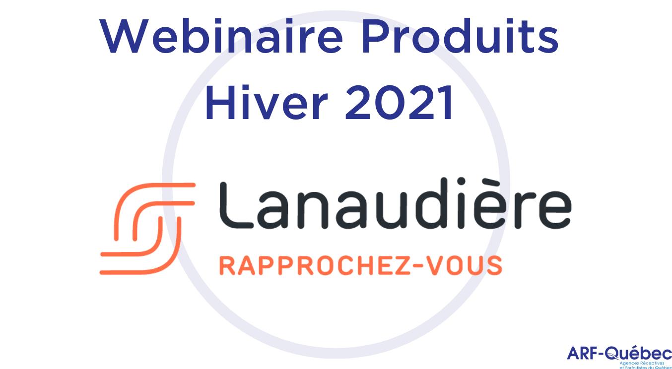 Webinaire Produits Hiver 2021 : Tourisme Lanaudière