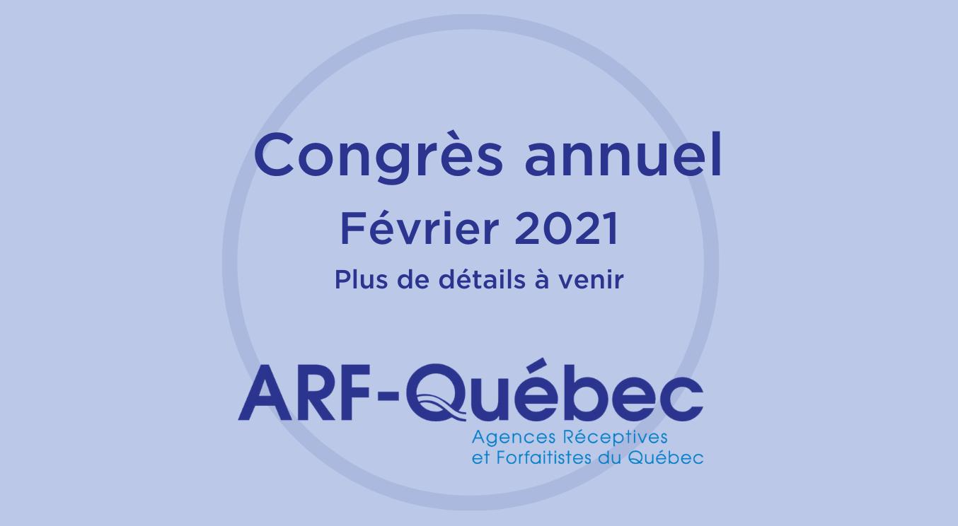 Congrès de l'ARF-Québec 2020 - En février