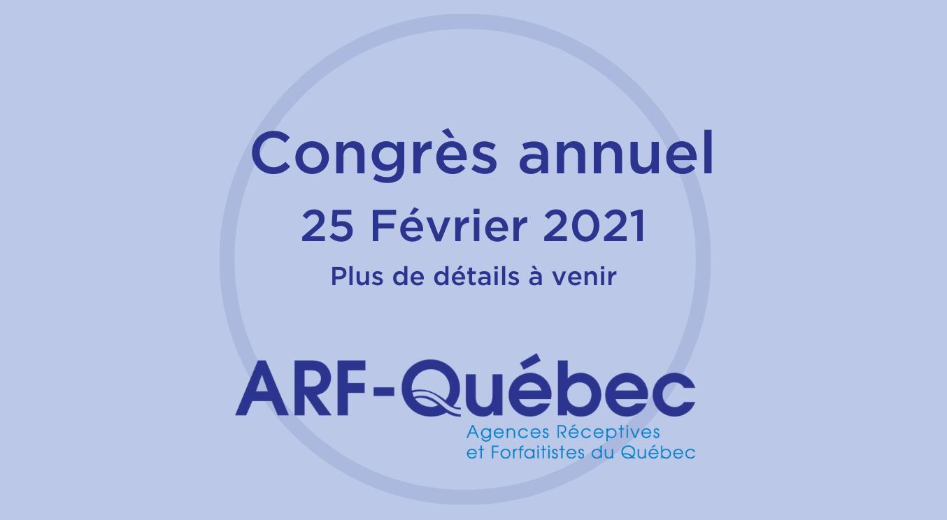 Congrès de l'ARF-Québec 2020