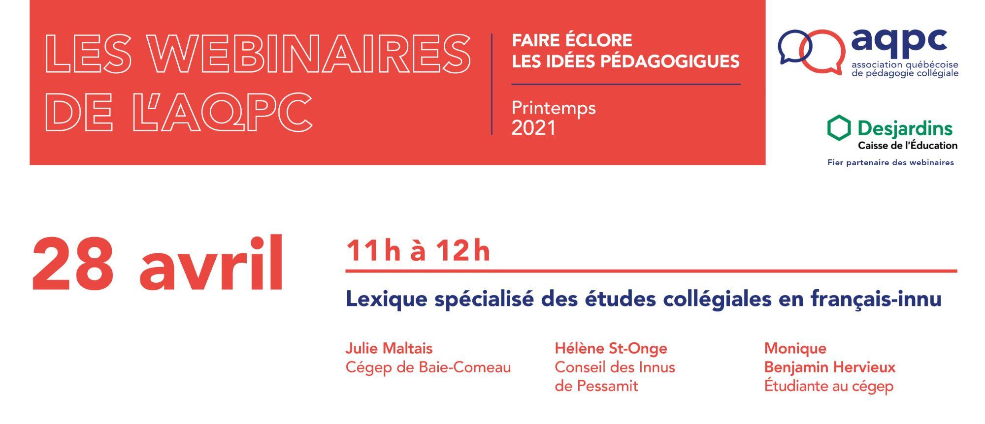 Lexique spécialisé des études collégiales en français-innu