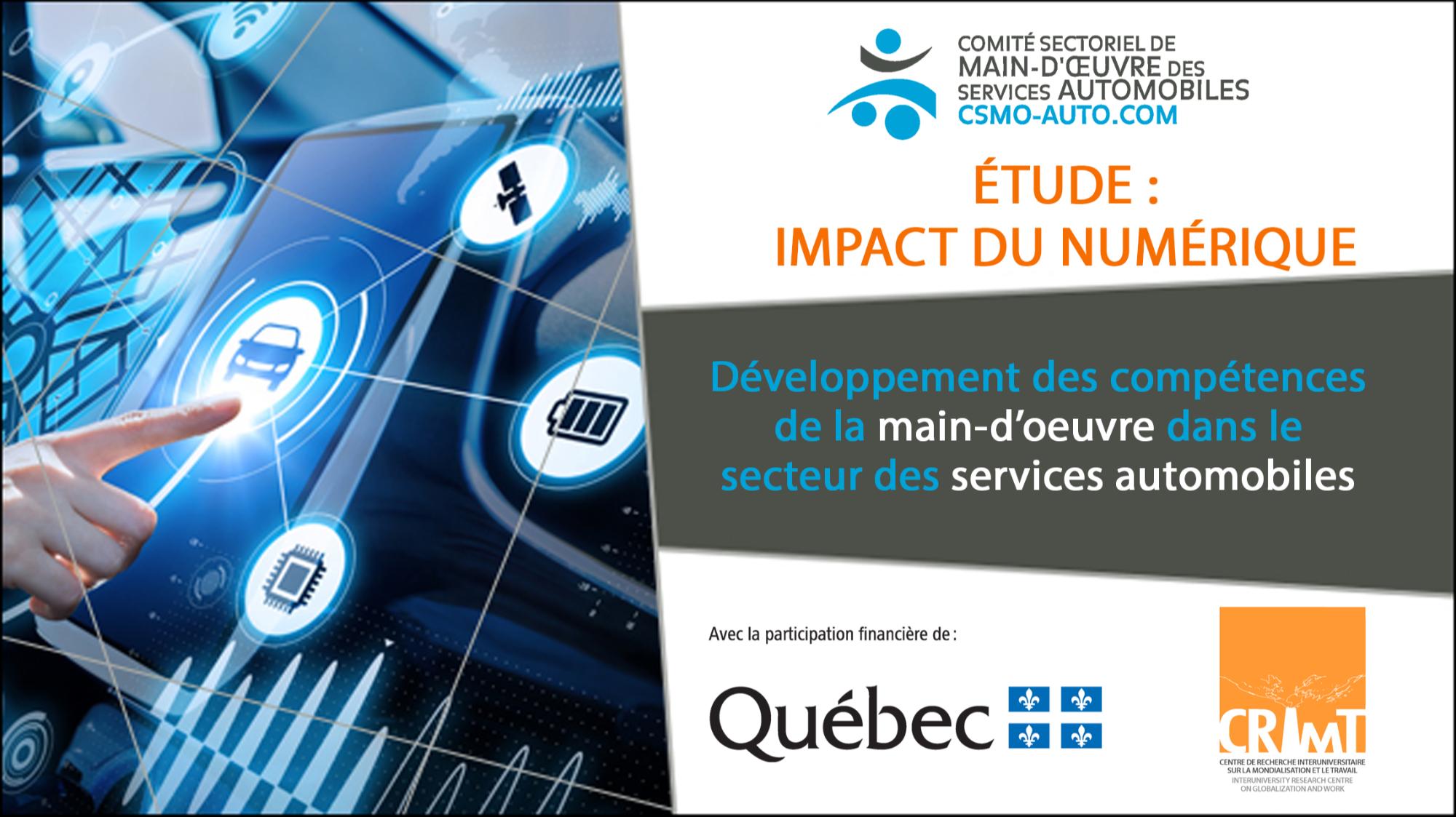 WEBINAIRE : Présentation de l'étude sur l'impact du numérique