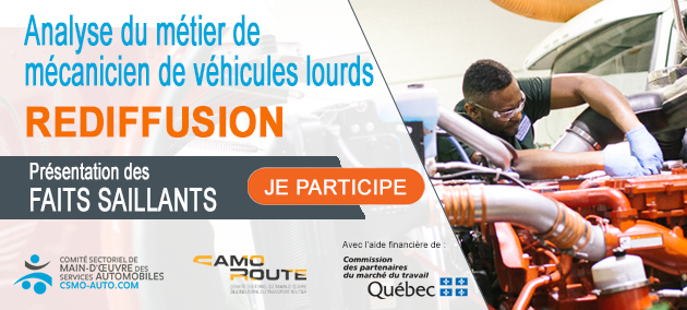 REDIFFUSION : Analyse du métier de mécanicien de véhicules lourds routiers