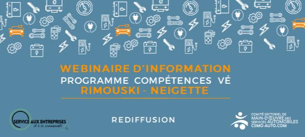 REDIFFUSION - Lancement Compétences VE Rimouski-Neigette