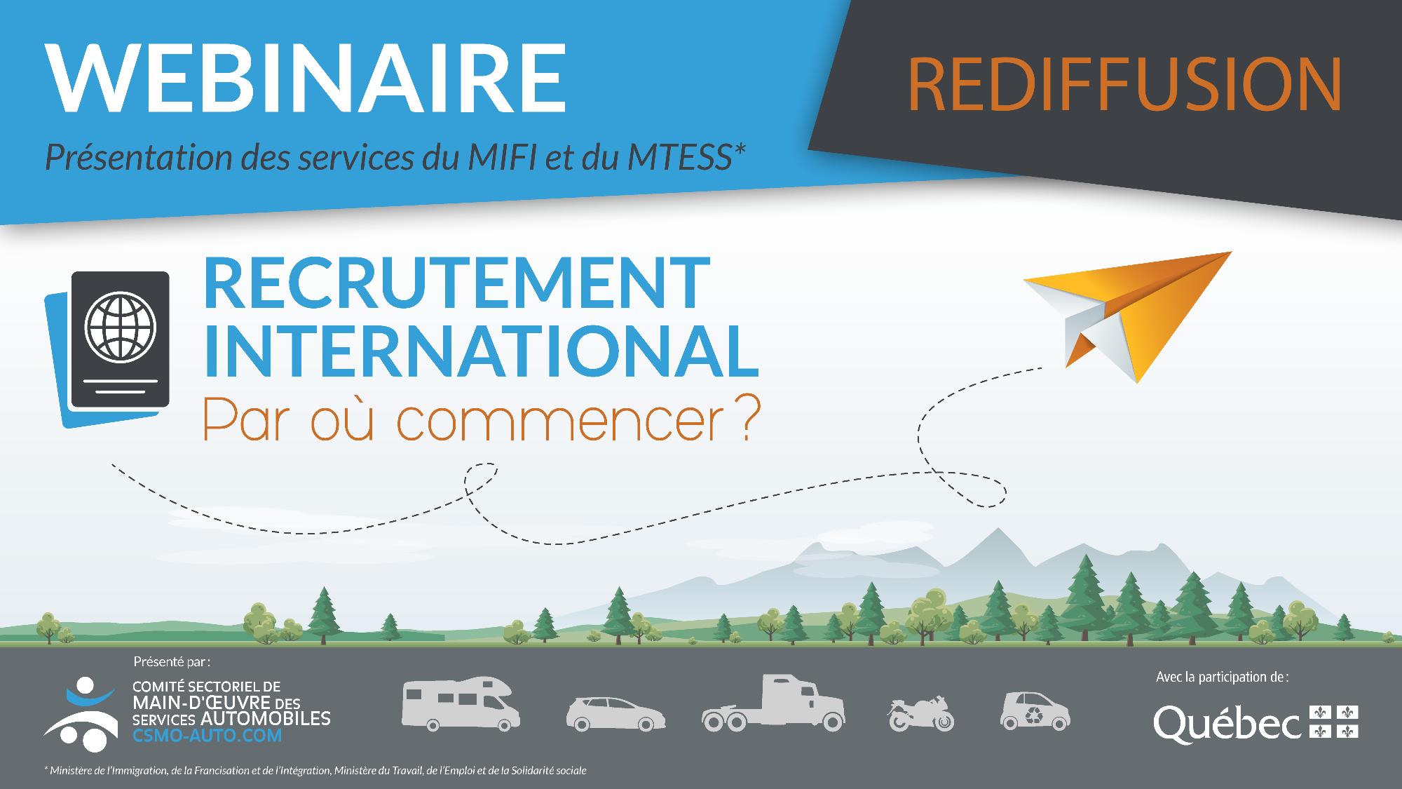 REDIFFUSION - WEBINAIRE : Recrutement international - Par où commencer?