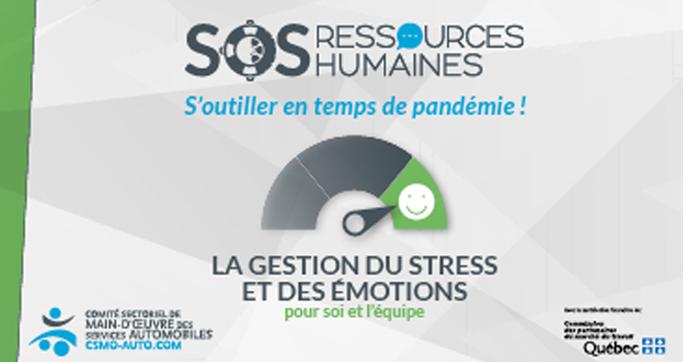 La gestion du stress et des émotions pour soi et l'équipe