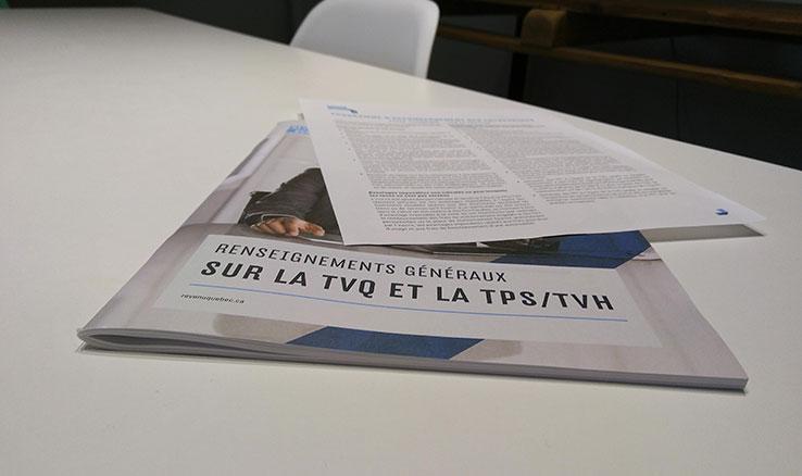 Atelier TPS/TVQ pour OBNL