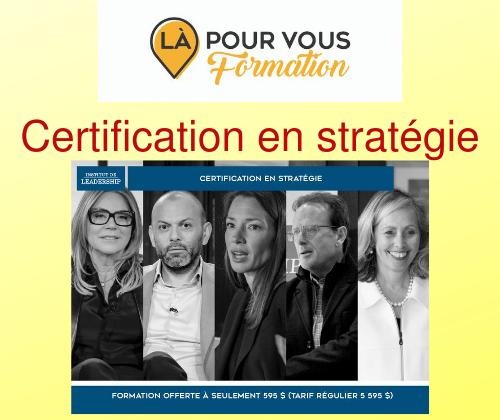 Certification en Stratégie