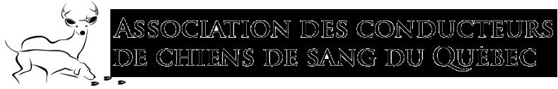 Logo Association des conducteurs de chiens de sang du Québec