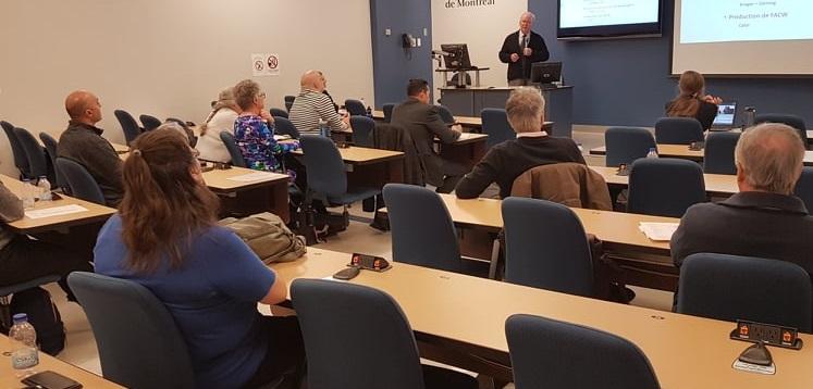 Conférence scientifique lors de l'AGA 2018