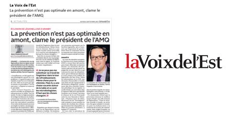Légionellose: le président de l'AMQ veut agir en amont
