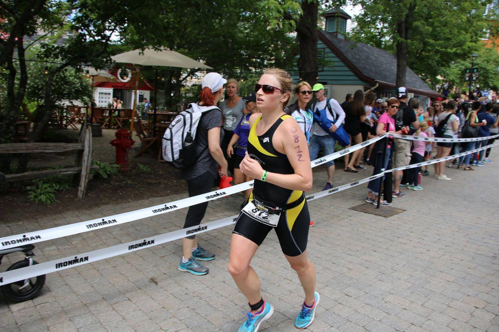 Athlète de Sherbrooke au demi-Ironman Tremblant