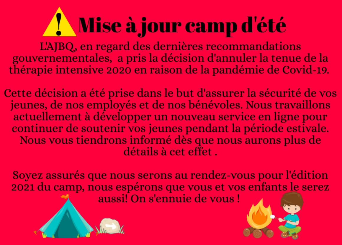 CAMP DE L'AJBQ