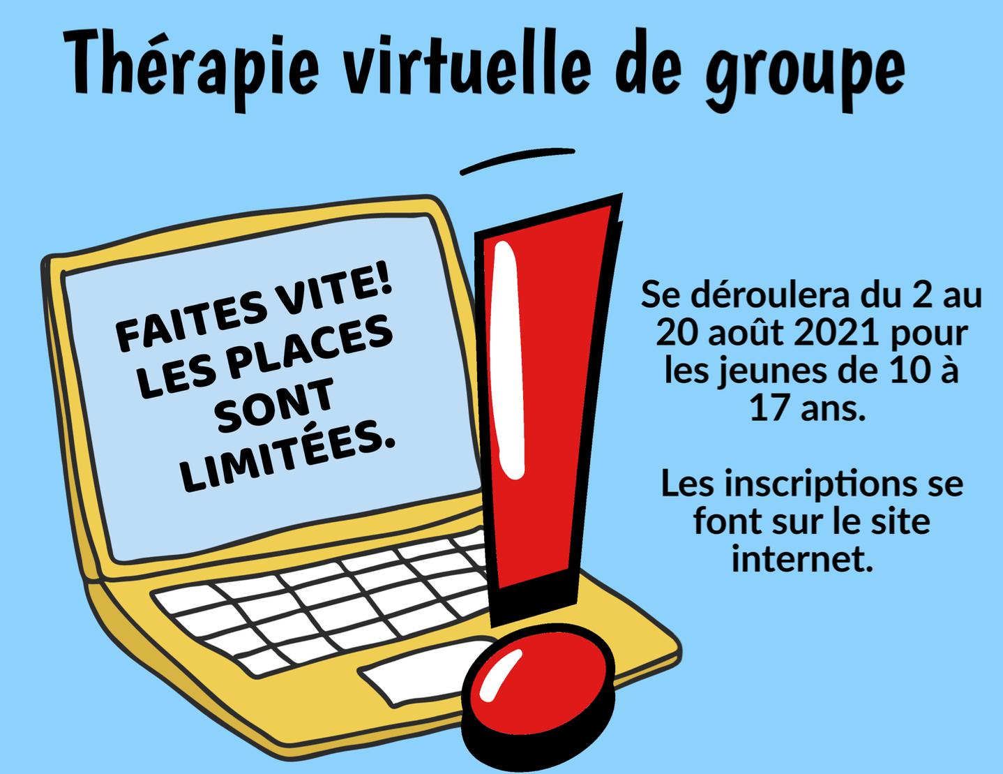 Thérapie virtuelle de groupe 2021