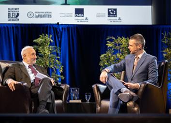 Joseph E. Stiglitz, prix Nobel d'économie et Nicolas Zorn, directeur général de l'Observatoire
