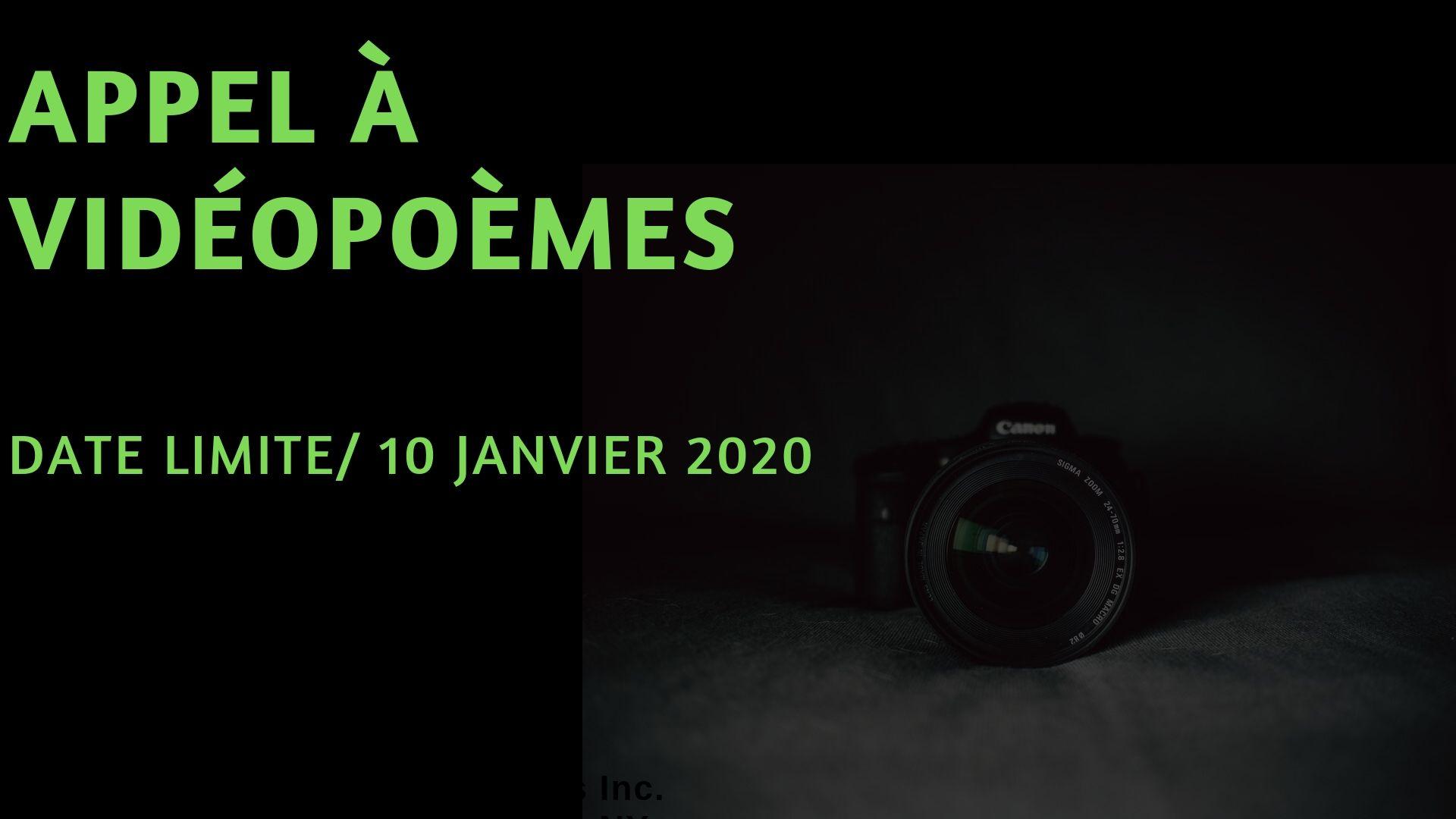 Appel à vidéopoèmes 2020