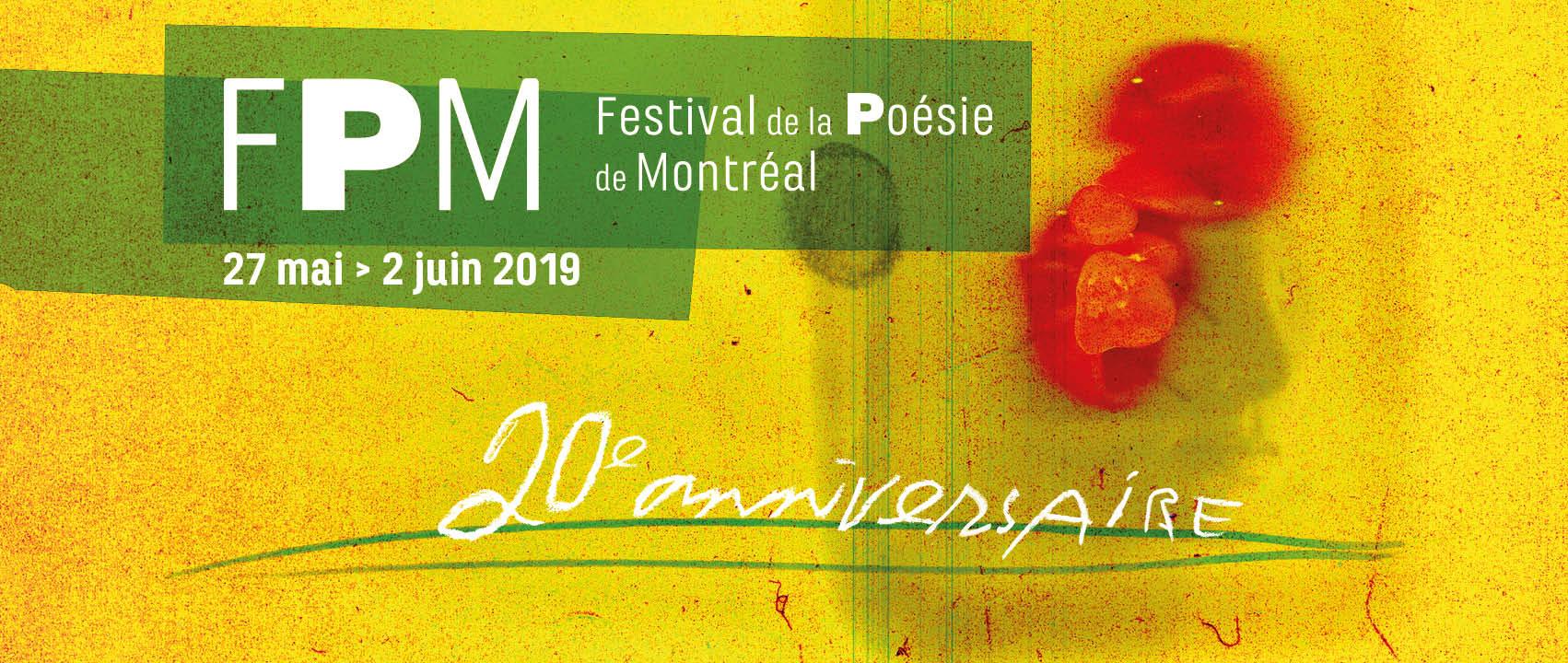 Les poètes au coeur de la création depuis 20 ans avec le FPM!