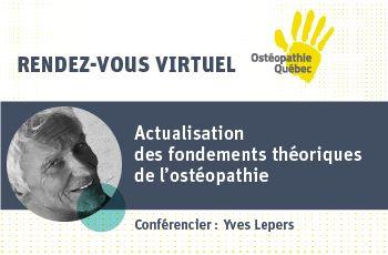 Actualisation des fondements théoriques de l'ostéopathie