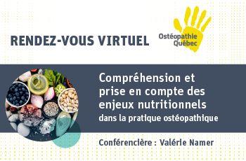 Compréhension et prise en compte des enjeux nutritionnels dans la pratique ostéopathique