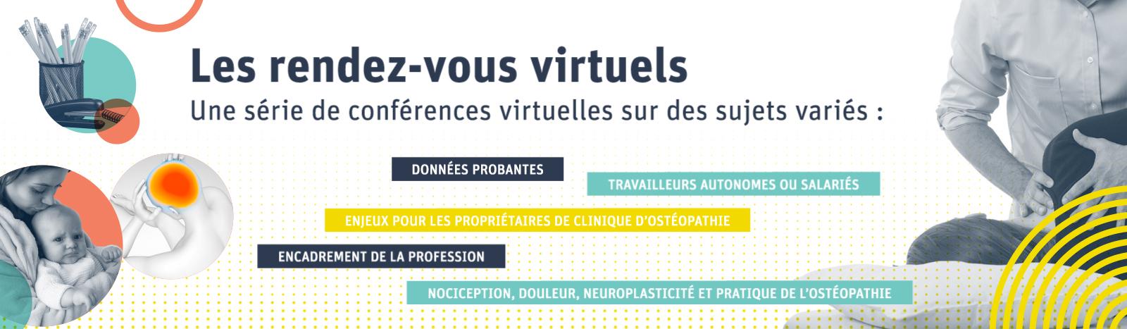 Les rendez-vous virtuels : une série de conférences virtuelles sur des sujets variés