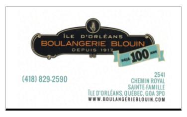 BOULANGERIE BLOUIN