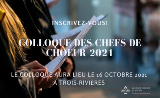 Colloque des chefs de choeur 2021