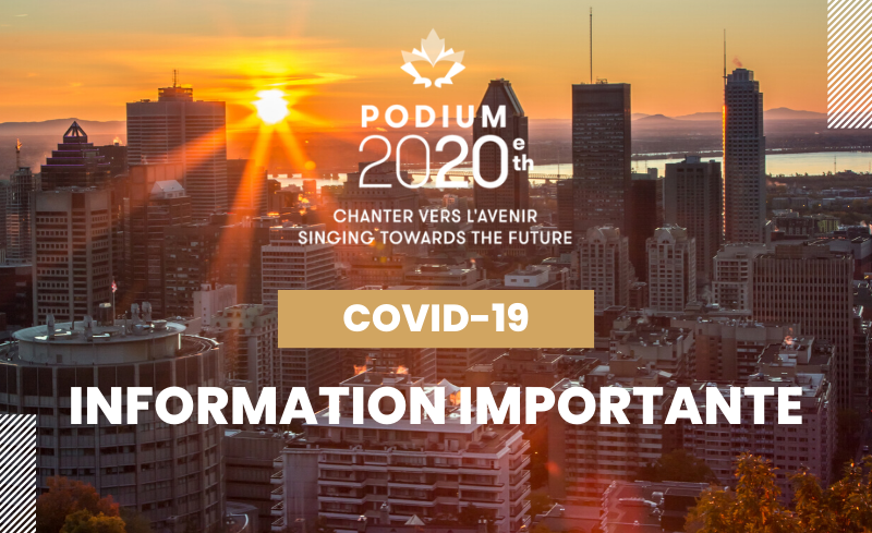 COVID-19 | PODIUM 2020 : Mise à jour importante