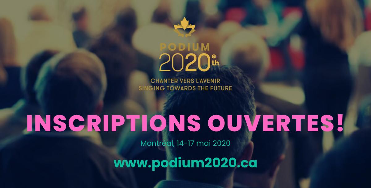 PODIUM 2020: inscriptions ouvertes!