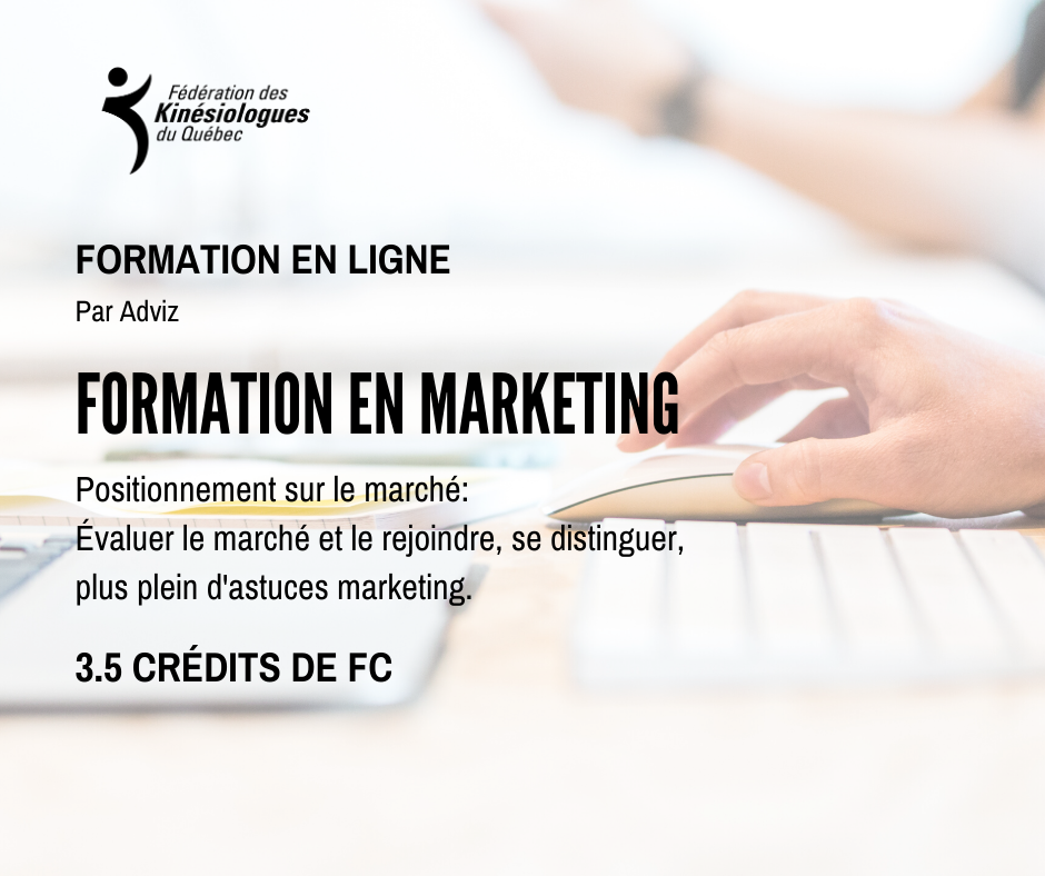 MARKET POSITIONING - ONLINE TRAINING (in French Only)