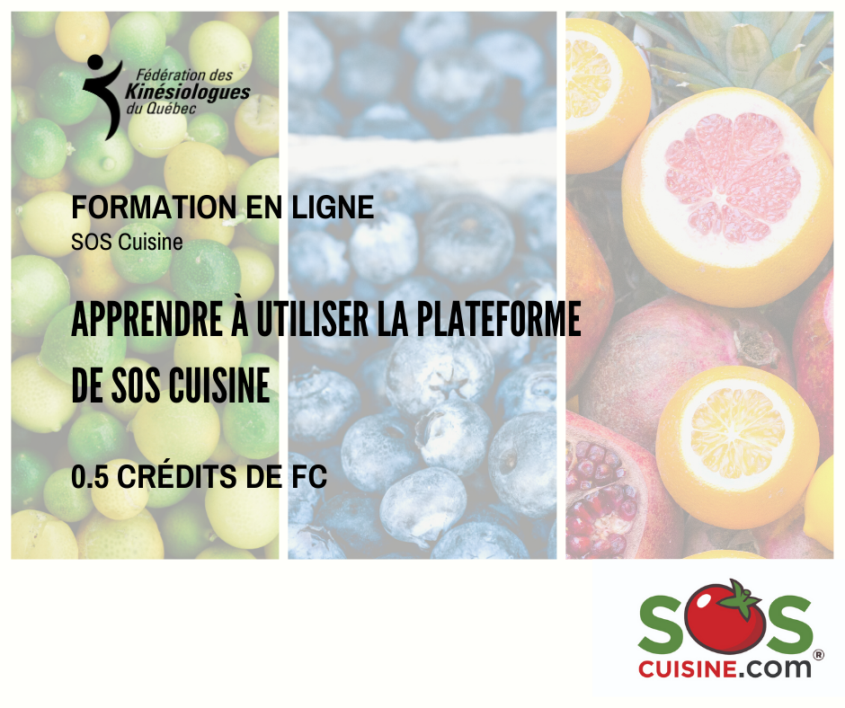 Plateforme nutritionnelle SOSCuisine.com