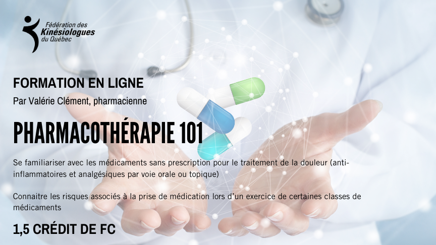 Pharmacologie 101 : un exercice facile à comprendre