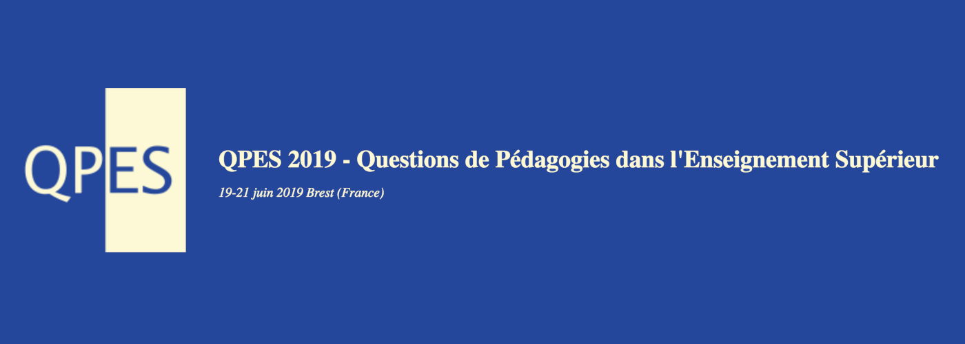 Questions de Pédagogies dans l'Enseignement Supérieur 2019
